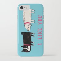 fashion iPhone & iPod Cases featuring I Like You. by gemma correll