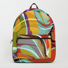 Colorful Abstract Whirly Swirls - V1 Backpack