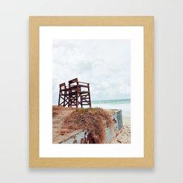 Beach Seats Framed Art Print
