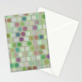 Illusion green stripe Stationery Cards