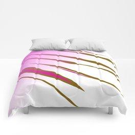 wild lines, exotic pink Comforters