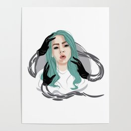 Vector Bury a Friend Billie Eilish Poster