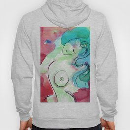 Abstract Nude Goddess 11d by Kathy Morton Stanion Hoody