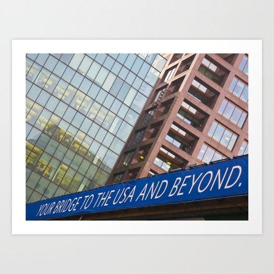 Bridge To The U.S.A Art Print