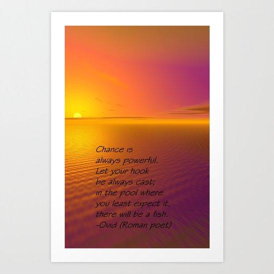 Let Your Line Be Always Cast... Art Print