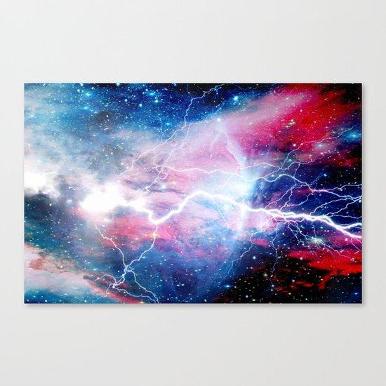 Starred Lightning Canvas Print