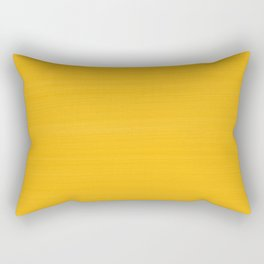 Sun Drenched Honey Mustard - Subtle Brush Texture Rectangular Pillow