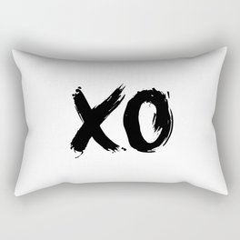 XO Hugs and Kisses black and white xoxo gift for her girlfriend bedroom art and home room wall decor Rectangular Pillow