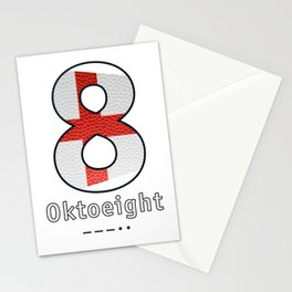 Oktoeight - Navy Code Stationery Cards