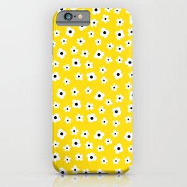 White Yellow Spring Flower Pattern iPhone Case