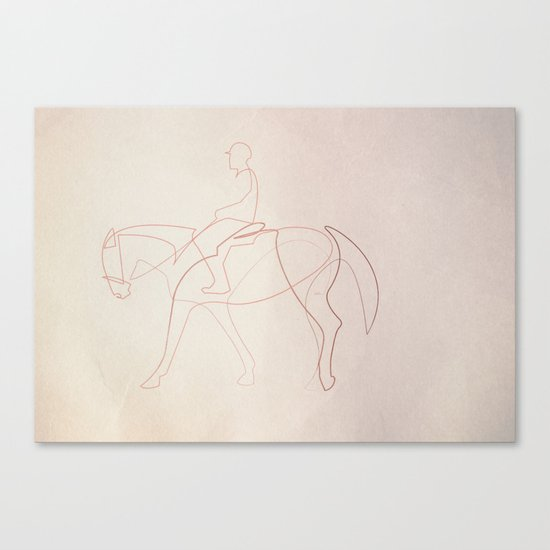 Rider line Canvas Print
