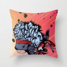 Ninja Bear & Lagorca Throw Pillow