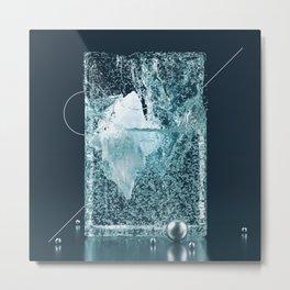 Iceberg container Metal Print