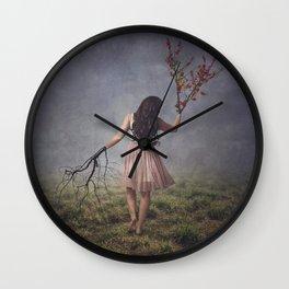 Tree Change Wall Clock