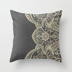 Stone & Lace Throw Pillow