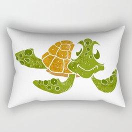 Cute turtle cartoon. Rectangular Pillow