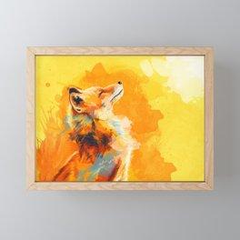 Blissful Light - Fox portrait Framed Mini Art Print