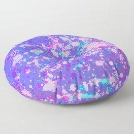 Blue Splatter #2 Floor Pillow