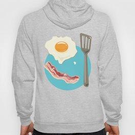 bacon & eggs, blue Hoody