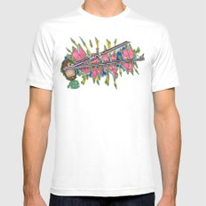 Black Book Piece No. 12 MEDIUM Mens Fitted Tee White
