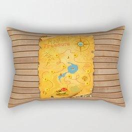 Treasure Map Rectangular Pillow