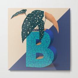 Vase B_Begonia Metal Print