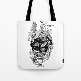 Cosmos Space Heart Tote Bag