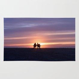 Lovers on Venice Beach, California Rug