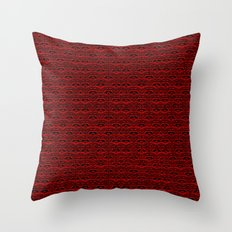 Muster - rot-schwarz Throw Pillow