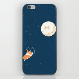 Fly to the moon _ navy blue version iPhone Skin