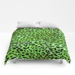 Green Tones Leopard Skin Camouflage Pattern Comforters