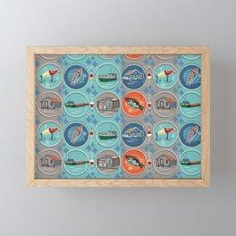 Fish Town Michigan Framed Mini Art Print