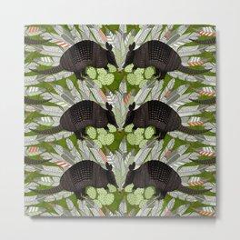 native armadillos green Metal Print