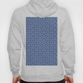 Original Handmade Pattern - Blue Tropical Leaves Hoody
