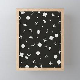 Black & White Memphis Pattern Framed Mini Art Print
