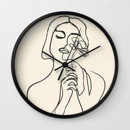 Minimalist Abstract Woman I Wall Clock
