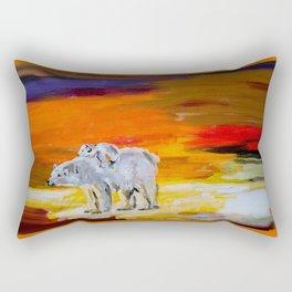 Polar Bears Surviving Rectangular Pillow