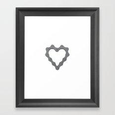 I Love Bike. Framed Art Print