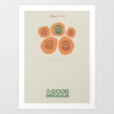 The Good Dinosaur - Alternative 3D Movie Poster - minimal playbill for Pixar animation studios Art Print