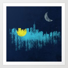 city that never sleeps Art Print
