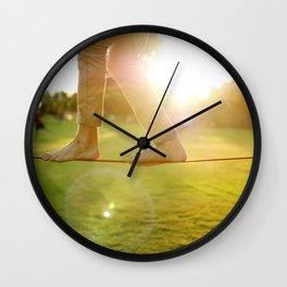 Slacklining  Wall Clock