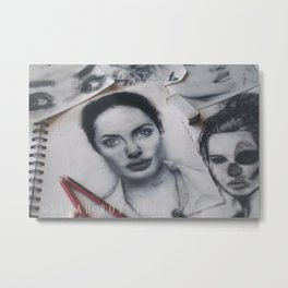 Angelina Jolie Art Print Metal Print