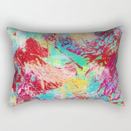 REEF STORM - Fun Bright BOLD Playful Rainbow Colors Underwater Ocean Reef Theme Coral Aquatic Life Rectangular Pillow