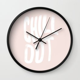 Chill Out Vintage Pink Wall Clock