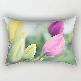 Colorful tulips 2 Rectangular Pillow
