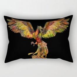 Phoenix Rising - on black Rectangular Pillow