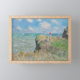 The Cliff Walk at Pourville by Claude Monet, 1882 Framed Mini Art Print