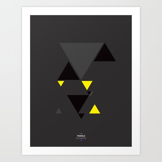 The Triangle Experiment Art Print