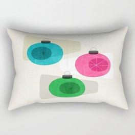 Retro Holiday Baubles Rectangular Pillow