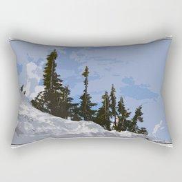 WINTER SPIRES Rectangular Pillow